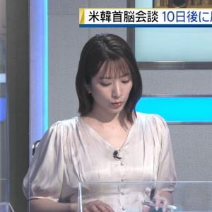 笹崎里菜アナ うっすらと透けた胸元!!