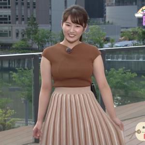 ABC朝日放送の新人アナ ムチムチ巨乳の天気予報!