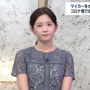 田中瞳アナ シースルー!