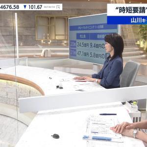 田中瞳アナ 横乳! ワールドビジネスサテライト