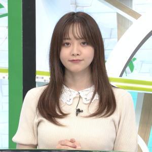 森香澄アナ ニットの巨乳! 乗せ乳!【GIF動画あり】