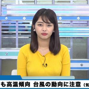 角田奈緒子キャスター ニットで巨乳がクッキリ!!