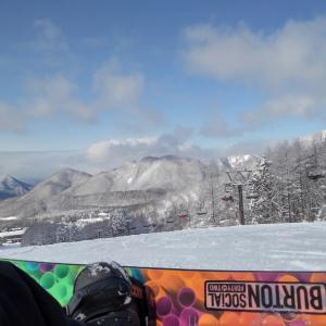 スノボーin箕輪スキー場2021/01/02