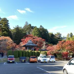 紅葉前線南下中 福島県宝蔵寺