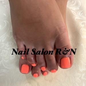 オレンジカラーネイル