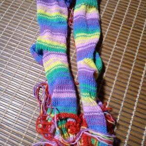 編み機で編む靴下