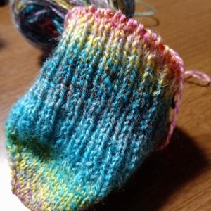 2足同時編みやってみた