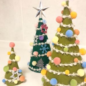 リスタートのご挨拶!【親子で工作】100均のフェルトでクリスマスツリー