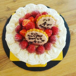 誕生日ケーキのオーダー