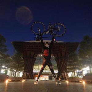 富山あかまるちゃんサイクリング 極寒の国道359号線編