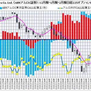 ABN AMRO Clearing Tokyo Co. Ltd. :ABNアムロクリアリング東京証券2月限日経225オプション建玉損益分岐点:2019年1月22日(火)現在