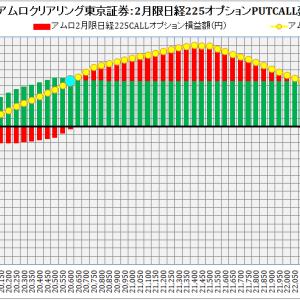 ABN AMRO Clearing Tokyo Co. Ltd. :ABNアムロクリアリング東京証券2月限日経225オプション建玉損益分岐点:2019年1月23日(水)現在