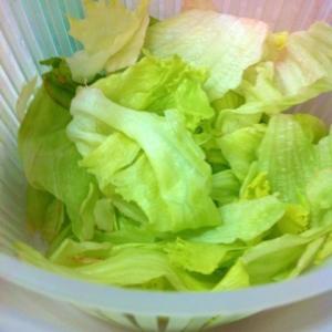 【野菜洗浄で】レタスが萎びてない!