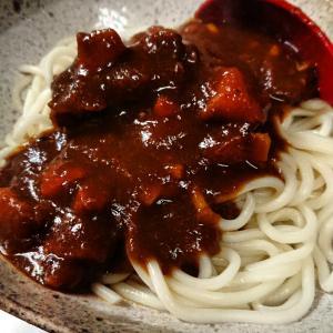 牛スジカレーソフト麺!これが最高に美味しいです(^O^)