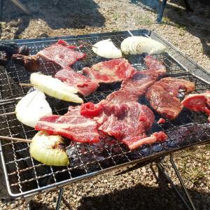 お庭BBQ。
