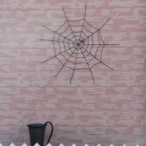 柵の上の蜘蛛