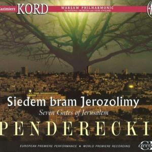 CD コルドとヴィットのペンデレツキ:交響曲第7番「エルサレムの7つの門」