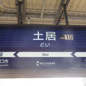 京阪電車・土居駅にて(2020年1月4日撮影)