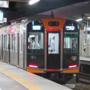 阪神尼崎駅にて(2020年6月23日撮影)夕ラッシュからの夜間撮影