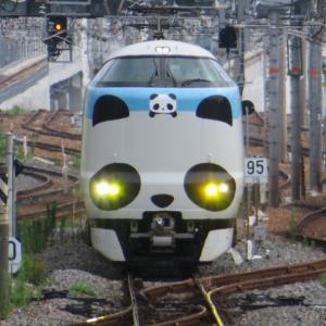 JR新大阪駅にて(2020年7月28日撮影)パンダくろしお「サステナブルSmileトレイン」