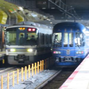 JR京都駅にて(2020年8月20日撮影)その2 京都丹後鉄道KTR8000系「丹後の海」