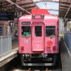 南海和歌山市駅にて(2019年7月23日撮影)7100系めでたい電車の和歌山港ゆき