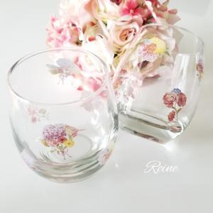 ☆ポーセラーツガラス作品☆