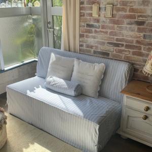 コテージスタイルのソファーカバーをちょこっと改良
