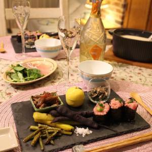 ある日の食卓〜クラムチャウダーとワイン