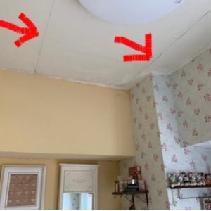 100均のスノコを使って天井に梁を作ってみました