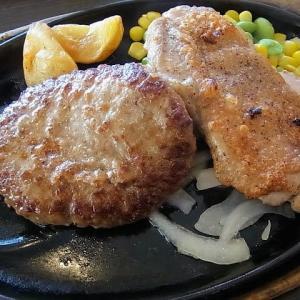 ハンバーグ&ハーフチキングリルランチ ステーキのどん