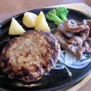 ハンバーグ&牛たんランチ ステーキのどん