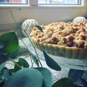 退院祝のりんごのクランブルパイ.:*:.