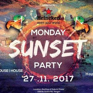 【DJ】Monday, Sunset & Music!! 【YangonYangon】