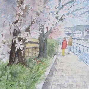 桜のシーズンもコロナに翻弄される中でお絵描き。。。