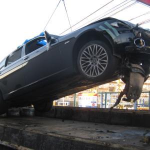 BMW740 不動車 事故現状 出張買取り!