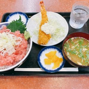 【大田市場】ネギトロ丼と大海老フライとアジフライ【三洋食堂】
