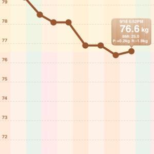 【男の減量】76.4→76.6kg【2020/09/18】