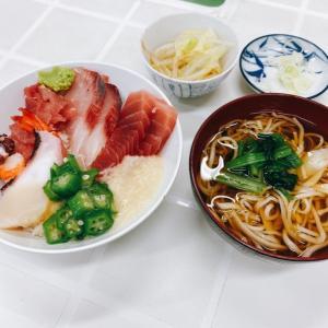 【大東京綜合卸売センター(府中)】海鮮丼とかけそば【そば敏】