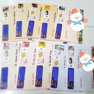 クリスマスカード10通発送