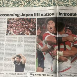 ラグビーW杯での日本の勝利と台風の被害と。複雑な気持ちいろいろ