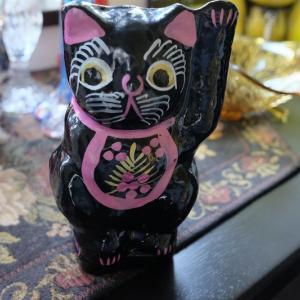 張り子の黒猫