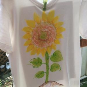 ひまわりTシャツ、作った!