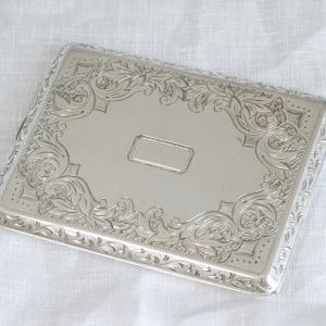 銀製 西園寺公望公遺品のシガレットケース  昭和初期 最後の元老 尚美堂