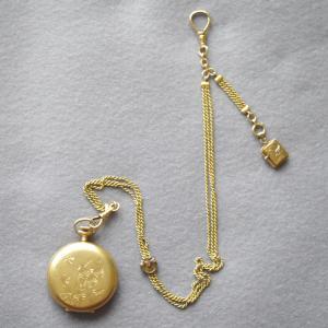 洋装用の女性用懐中時計鎖の着用方法がわかりました! 明治初期