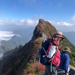 紅葉の石鎚山 2019