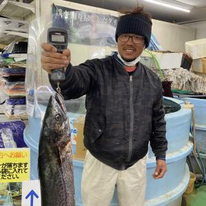 12/4 サワラ107cm/6.3Kg雨宮様(中島吉木にて)