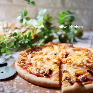手作りピザでお昼ご飯♡