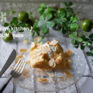 キャラメルナッツのパフケーキ♡