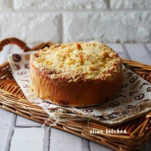 キャラメルナッツのクランブルケーキ♡